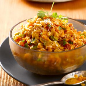 Red lentil daal with mild spices