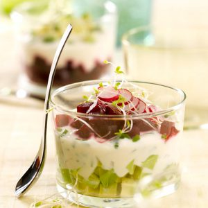 Refreshing verrine glasses