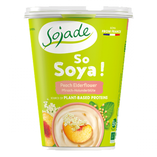 Peach Elder Flower Soya yogurt alternative 400g